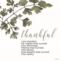 Thankful Framed Print
