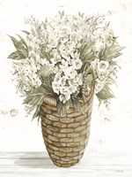 Hydrangea Basket Framed Print