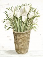 Tulip Basket Framed Print