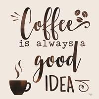 Coffee - Good Idea Framed Print