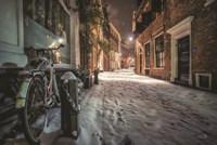 Winter Nighttime Street 1 Fine Art Print
