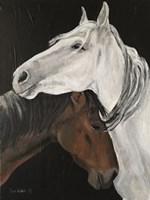 Horse Hug Fine Art Print