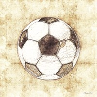 Soccer Sketch Framed Print