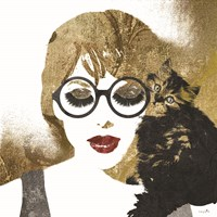 Girl and Cat Fine Art Print