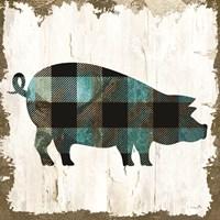 Farm Fashion Pig Framed Print