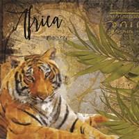 Taste of Africa Tiger Framed Print