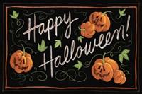 Happy Halloween Jack O Lanterns Framed Print