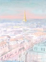 Pastel Paris VI Framed Print