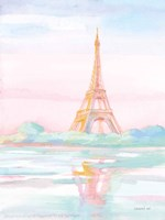 Pastel Paris V Framed Print