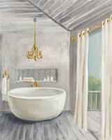 Attic Bathroom II Gray Framed Print