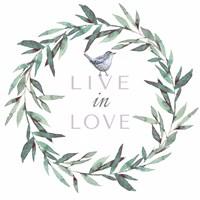 Live in Love Framed Print