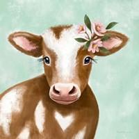 Farmhouse Cow Framed Print