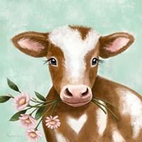 Farmhouse Cow II Framed Print