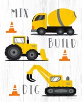 Mix, Build, Dig Framed Print