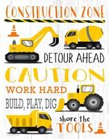 Construction Zone Fine Art Print