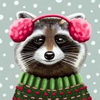 Cute Raccoon Framed Print