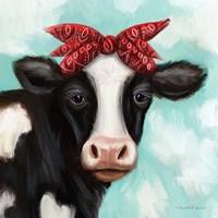 Cow Girl Framed Print