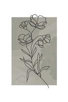 Sage Floral Framed Print