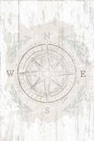 Calming Coastal Compass Framed Print
