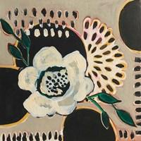 Flower and Black Circles Fine Art Print