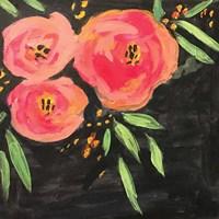 Black and Pink Floral Fine Art Print
