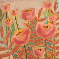 Flowers and Blue Sky Fine Art Print