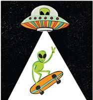 UFO Alien Framed Print