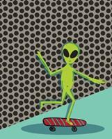 Skating Alien Fine Art Print