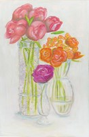 Flowers in Vases Fine Art Print