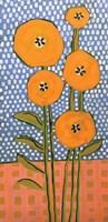 Orange on Polka Dots Fine Art Print