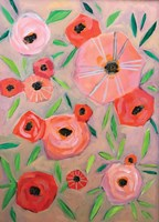 Peach Orange Flowers Fine Art Print