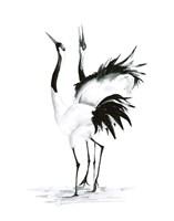 Dancing Bird Pair II Fine Art Print