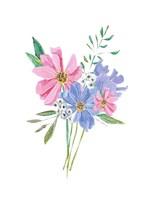 Pastel Floral Framed Print