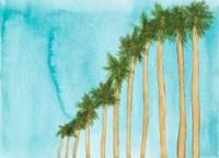 Blue Skies And Palm Trees Fine Art Print