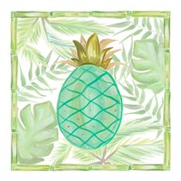 Tropical Pineapple II Framed Print