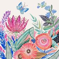 Spring Flower Garden IV Framed Print