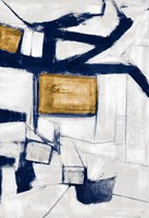 Golden Blue Shatters I Fine Art Print