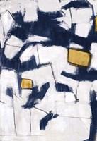 Golden Blue Shatters II Fine Art Print