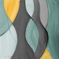 Coalescence in Gray II Framed Print