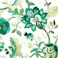 Green Capri Floral II Framed Print
