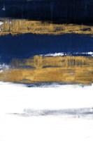 Midnight Gold Rain II Framed Print