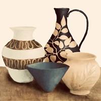 Decorative Beige Vessels I Framed Print