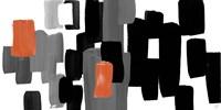 Modern Grooves with Orange II Framed Print