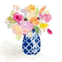 Navy Spring Vase I Framed Print