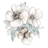 Moonlit Florals Square I Framed Print