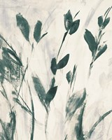 Green Misty Leaves I Framed Print