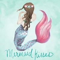 Mermaid Kisses Framed Print