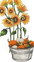 Harvest Bounty Tub I Framed Print