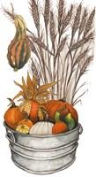 Harvest Bounty Tub III Framed Print