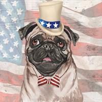 Patriotic Pug Fine Art Print